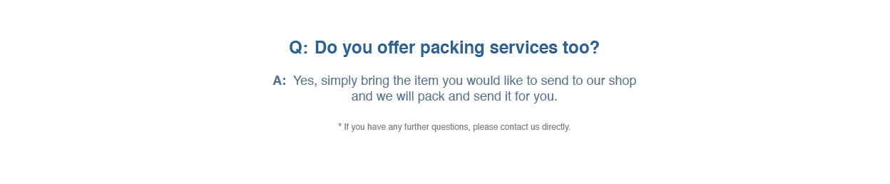 FAQ about Printing & More packing services